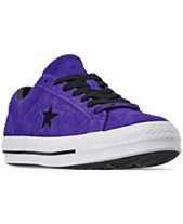 27453a4c4d6b Converse Men s Chuck Taylor One Star Dark Vintage Suede Casual Sneakers  from Finish Line
