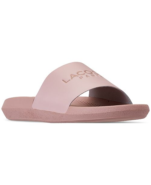 0a3e819a9229 Lacoste Women s Croco Slide Paris Slide Sandals from Finish Line ...