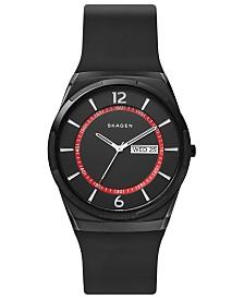Skagen Men's Melbye Black Silicone Strap Watch 40mm