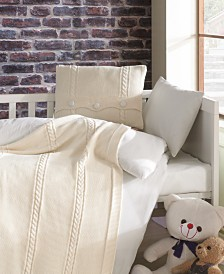 Nipperland Heritage Natural Cotton Crib Bedding Set 5 Piece