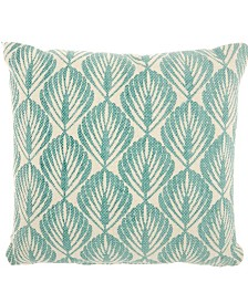 """Studio NYC Collection """"Leaves"""" Mineral Throw Pillow by Mina Victory"""