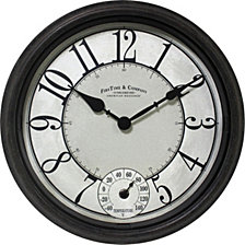 Firstime and Co. Isle Patina Outdoor Wall Clock