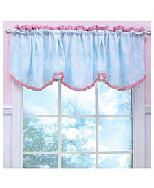 Nurture Aqua And Pink Plush Window Valance