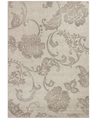 """CLOSEOUT! Reflections Silhouette 7421 Gray 2'7"""" x 4'11"""" Area Rug"""
