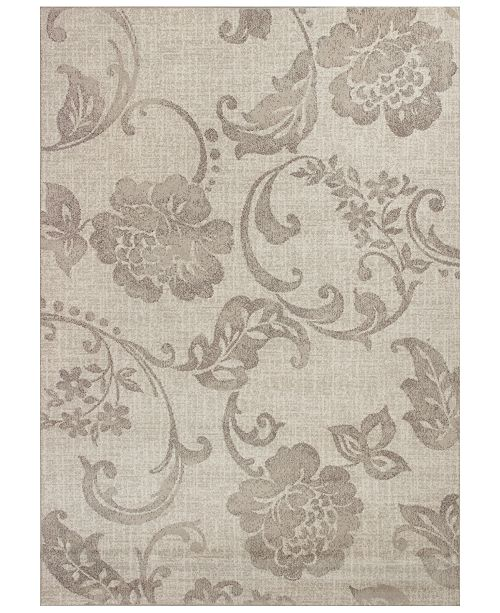 "Kas CLOSEOUT! Reflections Silhouette 7421 Gray 2'7"" x 4'11"" Area Rug"