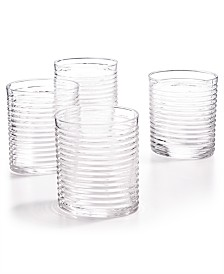 The Cellar Clear Ribbed Double Old-Fashioned Glasses, Set of 4, Created for Macy's