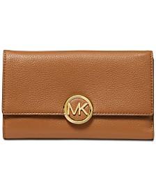 MICHAEL Michael Kors Lillie Pebble Leather Carryall Wallet