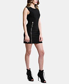 ARTISTIX Zip-Front Bodycon Dress