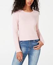 5df4746edd4dc9 American Rag Juniors  Lace-Back T-Shirt