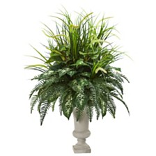 "Nearly Natural 42"" Mixed Greens Artificial Plant in Urn"