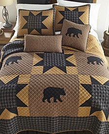 Bear Star Cotton Quilt Collection, Queen