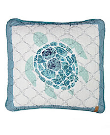 Summer Surf Turtle Decorative Pillow