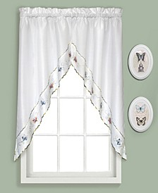 """Butterfly 60"""" X 36"""" Pair Of Kitchen Swags"""