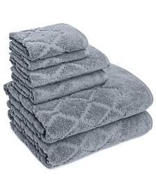 Hart Diamond 6 Piece Textured Towel Set