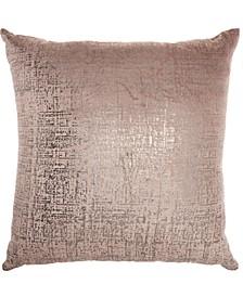 Inspire Me! Home Decor Distressed Metallic Nude Throw Pillow