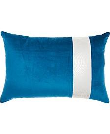 Inspire Me! Home Decor Snake Skin Stripe Royal Throw Pillow