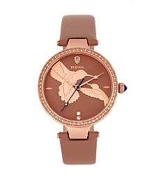 Bertha Quartz Nora Tuscan Genuine Leather Watch, 38mm