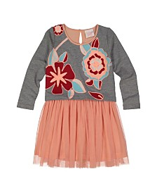 Masala Baby Girls Charming Dress Floral Heather