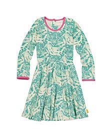 Masala Baby Girls Organic Cotton Misha Dress Cat Camo