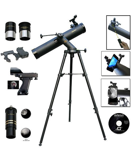 Cosmo Brands Cassini 800mm X 80mm Electronic Focus Telescope and Hand Box Smartphone Adapter