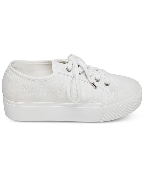 664f64fc27 Steve Madden Women's Emmi Flatform Lace-Up Sneakers & Reviews ...