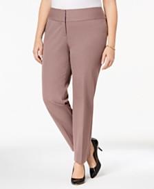 Alfani Plus & Petite Plus Size Slim Tummy-Control Pants,  Created for Macy's