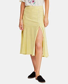 Poppy Flared Midi Skirt