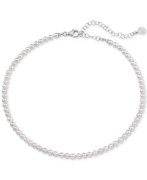 "Majorica Accessories IMITATION PEARL STRAND NECKLACE IN STERLING SILVER, 13"" + 2"" EXTENDER"