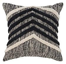 Chevron Metallic Throw Pillow