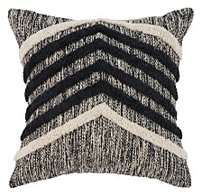 LR Home Chevron Metallic Throw Pillow