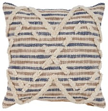 LR Home Textured Stripe Throw Pillow