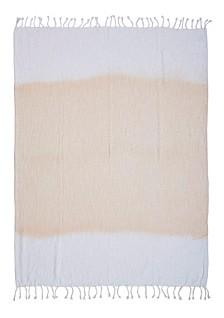 Shibori Sweet Ombre Slab Throw Blanket