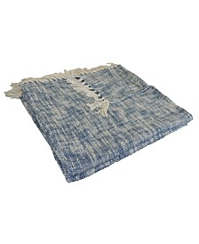 LR Home Boho Chambray Woven Throw Blanket