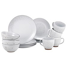 Over and Back Daisy 16Pc Dinnerware Set