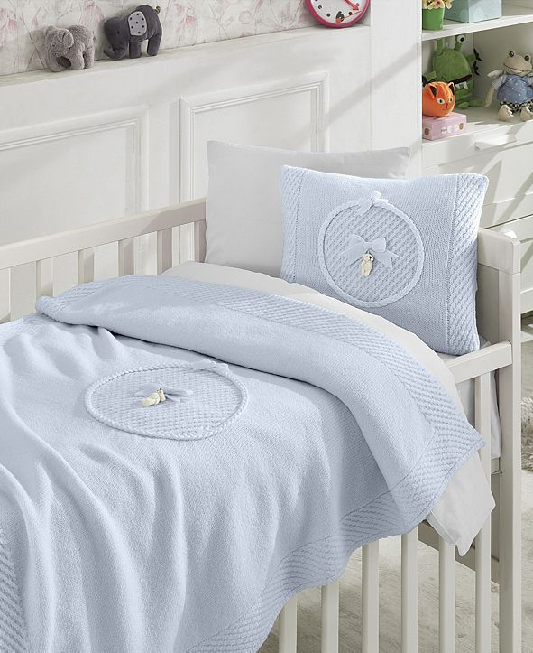 Nipperland Teddy Premium 6 Piece Crib Bedding Set