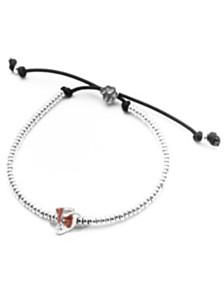 Jack Russel Terrier Head Bracelet in Sterling Silver