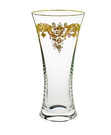 Centerpiece Vase with 24K Gold Artwork