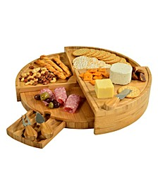 Vienna Transforming Multilevel Bamboo Cheese Board Set with Tools