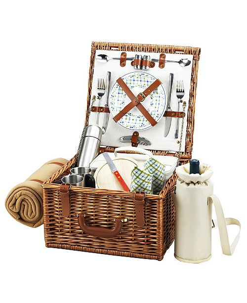 Picnic At Ascot Cheshire English-Style Basket -Picnic, Coffee with Blanket for 2
