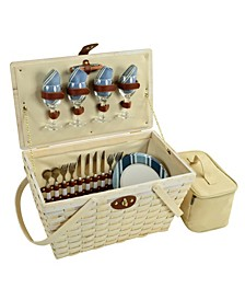 Settler Traditional American Style Picnic Basket - Service for 4