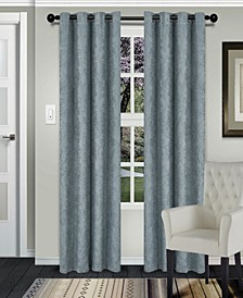 "Waverly Textured Blackout Curtain, Set of 2, 52"" x 96"""