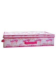 Kids Under The Bed Storage Box in Pretty Flamingo