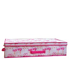 Laura Ashley Kids Under The Bed Storage Box in Pretty Flamingo