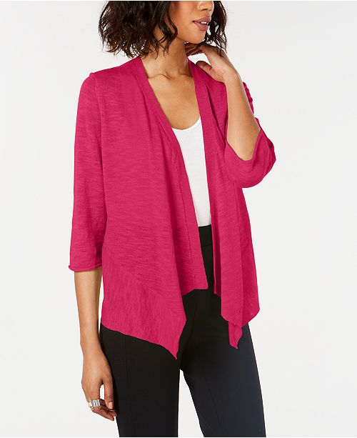 Alfani Petite Linen Open-Front Cardigan, Created for Macy's