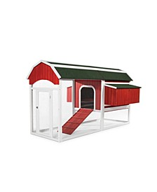 Large Red Barn Chicken Coop 467