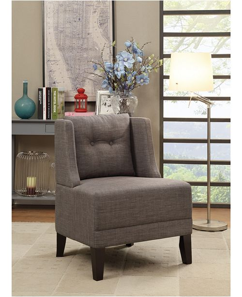 Benzara Wood And Printed Fabric Accent Chair Featuring