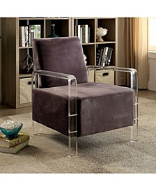 Stylish Contemporary Flannelette Fabric Accent Chair