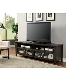 "72"" Wooden Tv Stand with 2 Cabinets and 2 Open Shelves"