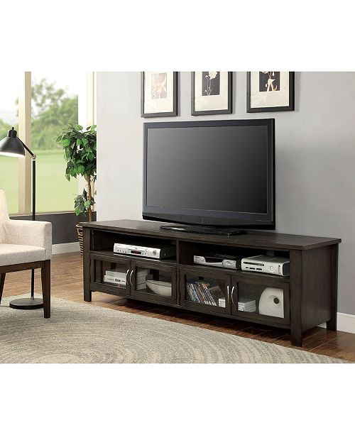 Wooden Tv Stand With 2 Cabinets
