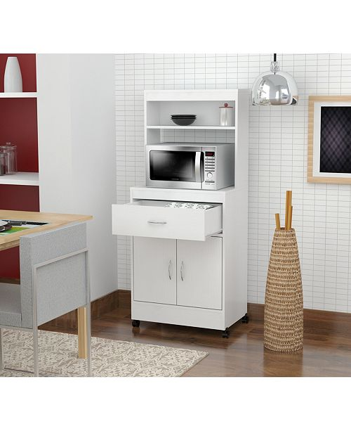 Inval America Microwave Storage Cabinet
